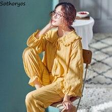 Women Pajamas Sets New Spring Autumn Printed Sweet Womens Ru