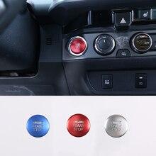 Alüminyum alaşım araba kontak anahtarı kapağı motor çalıştırma durdurma düğme kapağı Sticker Toyota Tacoma 2016 2020 iç aksesuar