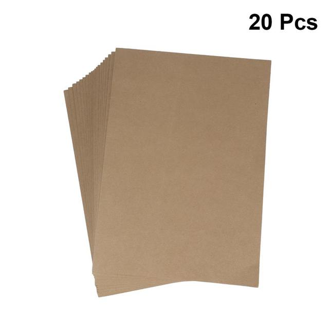 20pcs A4 Kraft Paper File Folder Document Paper Organizer Storage Holder School Office Stationery Supplies 5