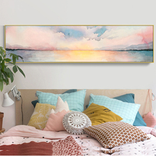 RELIABLI ART Colorful Clouds Sky Dusk Pictures Landscape Canvas Painting Wall Art Picture For Living Room Modern Poster Unframed