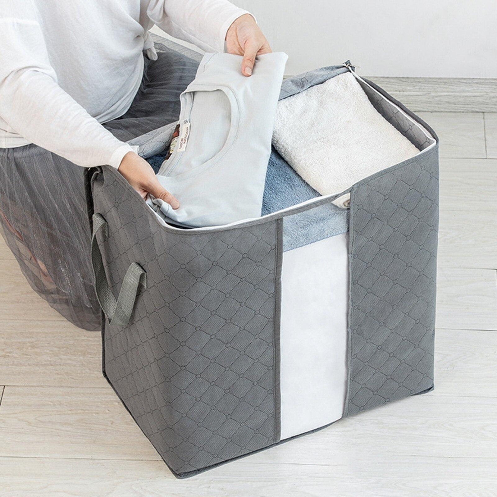 Wholesale Home Storage Foldable Bag New Non-woven Bedding Pillows Quilt Storage Bag Clothes Storage Bag Organizer Large