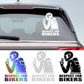3D Respekt Für Radfahrer Wasserdicht Reflektierende Biker Motorrad Auto Auto Zubehör Aufkleber Aufkleber Lustige JDM Vinyl Auf Auto Styling