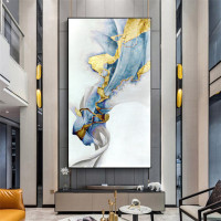 Best Selling Pure Hand painted Thick Textured Abstract Oil Painting Pop Art Abstract Gold Oil Painting on Canvas for living room