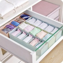 5-Grids Multi-Purpose Underwear Socks Storage Box Japanese Style Superimposable Drawer Jewelry Finishing Gray
