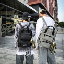Trendy Double Shoulder Backpack For Both Men And Women Fashionable Oxford Cloth Bag Leisure Art Unique Large Backpack Printing leisure men s backpack with double buckle and black color design