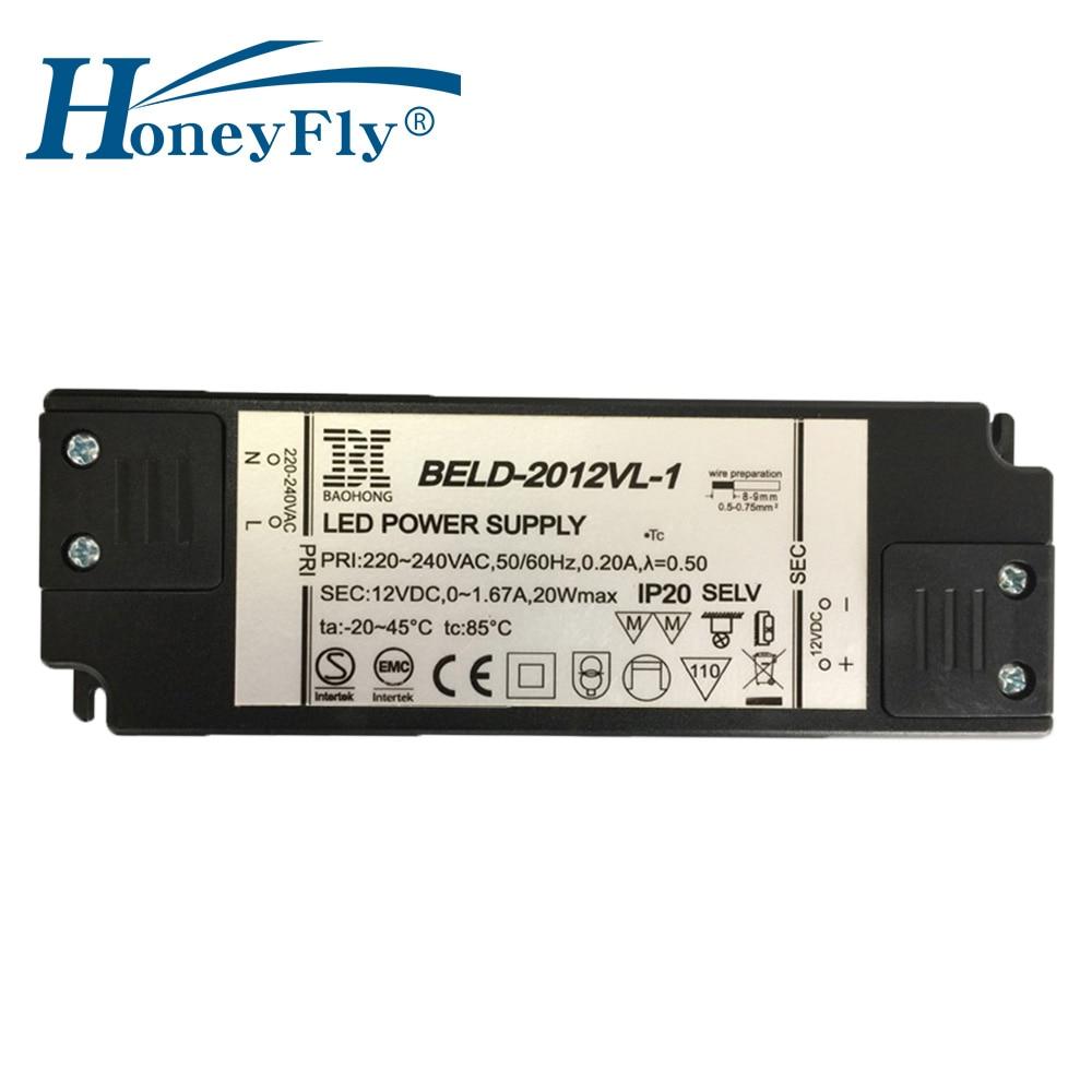 HoneyFly Super Slim LED Driver 20W 12V Transformátorový zdroj LED s - Osvětlovací příslušenství