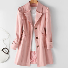 Spring Autumn Trench Coat OL Ladies Trench Coat Woman Trench Coat Long Women Windbreakers Plus Size Trench Coat Femme 5xl Coat cheap GPFDRL CN(Origin) Spring Autumn Full Broadcloth Office Lady Polyester Button Pockets Spliced Solid 1A1420 Turn-down Collar
