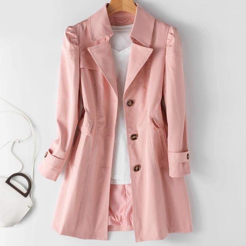 Spring Autumn Trench Coat OL Ladies Trench Coat Woman Trench Coat Long Women Windbreakers Plus Size Trench Coat Femme 5xl Coat