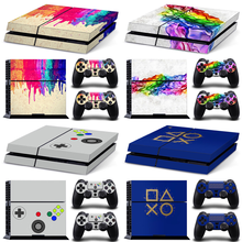 PVC Skin Sticker for PS4 Console and 2 Controllers stickers for ps4 skins sticker for ps4 console sticker