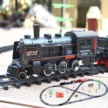 Детский игрушечный Электрический поезд, Набор железной дороги, Радиоуправляемый поезд, модель, детский поезд, игрушки для детей, железная дорога с дистанционным управлением, Набор железной дороги