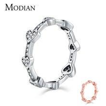 Modian романтическое Модное Новое кольцо на палец из настоящего