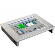 """מחשב תעשייתי 15 """"צג IP65 עמיד למים מלא שטוח 8.4""""/10.1 """"/12.1""""/15 """"מגע מסך LCD מחשב לוח מגע צג מחשב"""