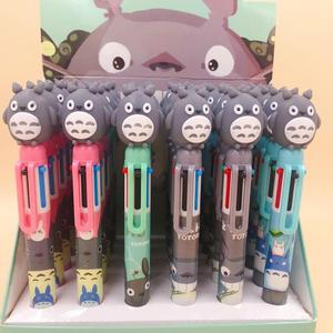 Image 2 - 36 pcs/lot Totoro 6 colors Ballpoint Pen Cartoon animal ball pen School Office writing Supplies Stationery Gift