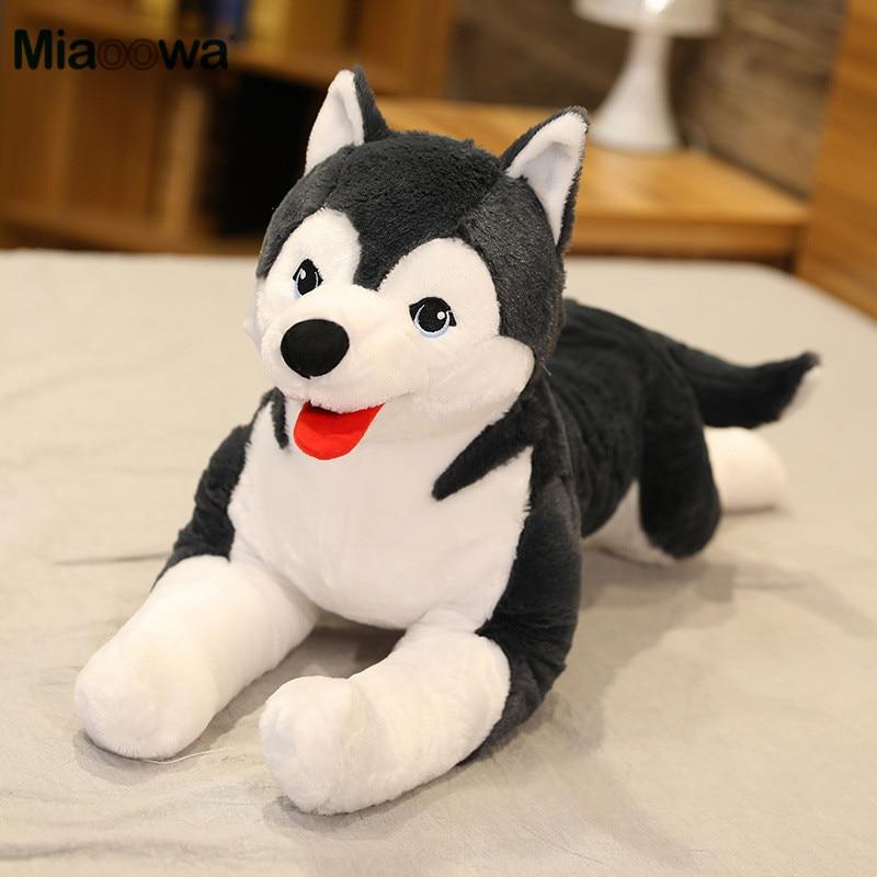70cm Lifelike Husky Dog Plush Toy Simulation Stuffed Dog Animal Toys for Children Soft Baby Doll Kids Girl Lovely Birthday Gift|Stuffed & Plush Animals|   - AliExpress