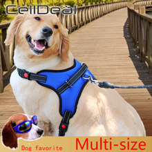Hand-Strap Harness Vest-Collar Dogs-Belt Small Pet-Large Medium for Adjustable Walk-Out
