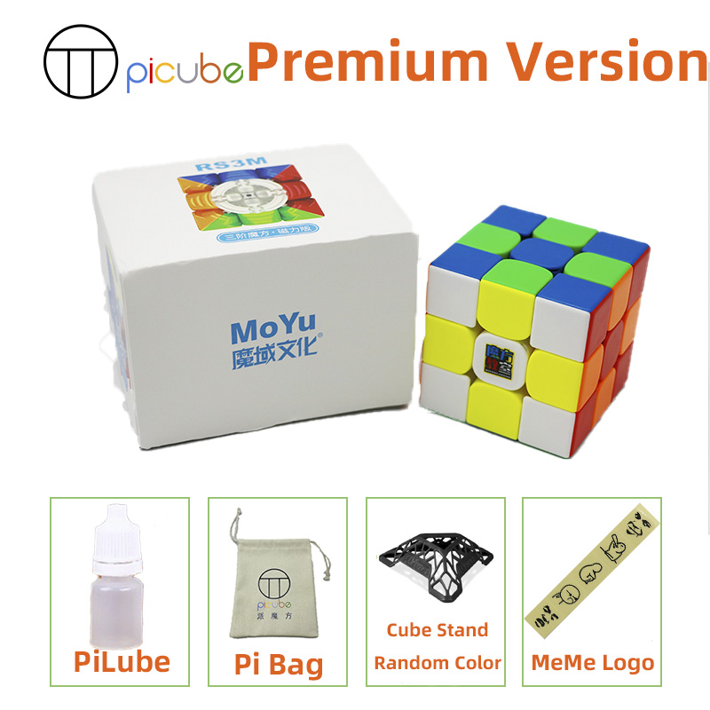 [Picube]2020 Moyu MFRS3 M Magnetic 3x3x3 speed magic cube 3x3 puzzle cube MF RS3M Magnet 3x3x3 cubo magico RS3 M 5