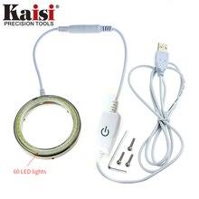 Kaisi K-D060 4,5 Вт USB светодиодный светильник лампа ремонтный инструмент для мобильного телефона для воздуходувки пистолет и паяльная станция