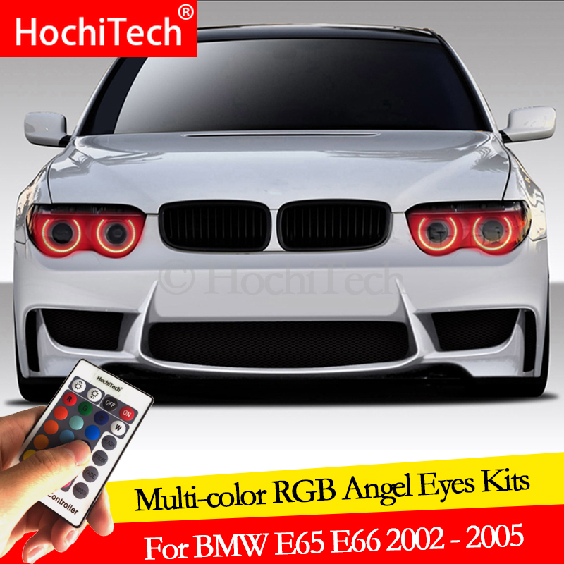 For <font><b>BMW</b></font> E65 E66 PRE FACELIFT <font><b>745i</b></font> 745Li 760Li 760i daytime running light DRL Angel Eyes LED RGB Multi-color Halo Ring kit image
