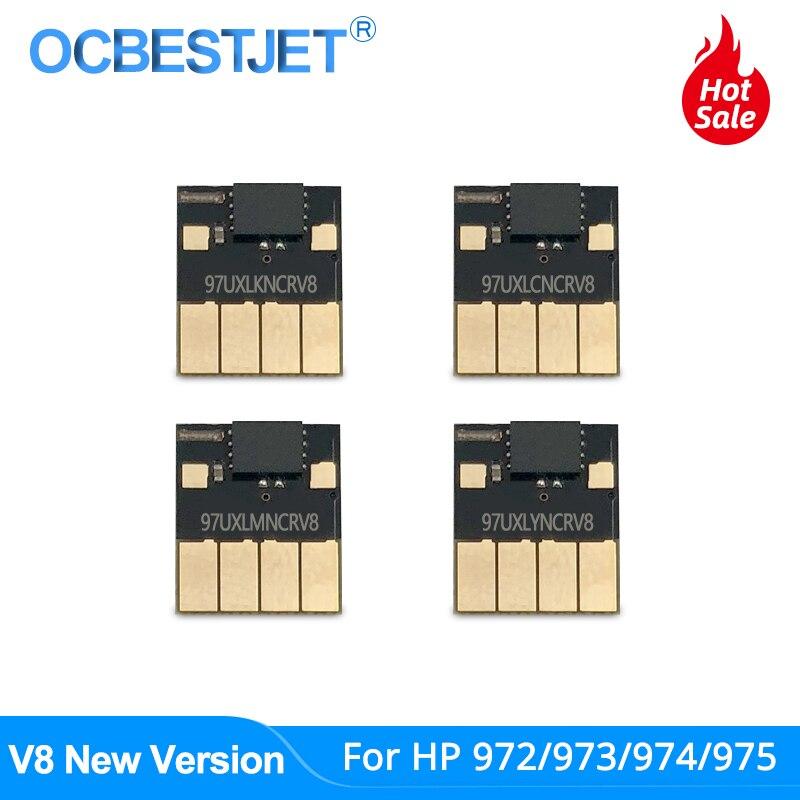 V8 Newest ARC Chip For HP 972 973 974 975 XL 972X 973X 974X 975X CISS For PageWide Pro 352dw 377dw 452dn 452dw 477dn 477dw 552dw
