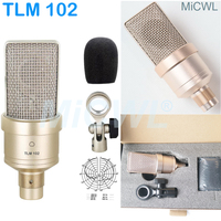 MiCWL TLM 102 Cardioid Condenser Microphone Professional TLM 102 For Laptop PC Network Live Studio Recording Sing 48V Phantom