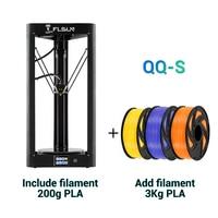 FLSUN QQ-S 2019 de alta velocidad Delta 3D impresora gran tamaño más 255*360mm kossel 3d-impresora actualización Auto-nivelado pantalla táctil