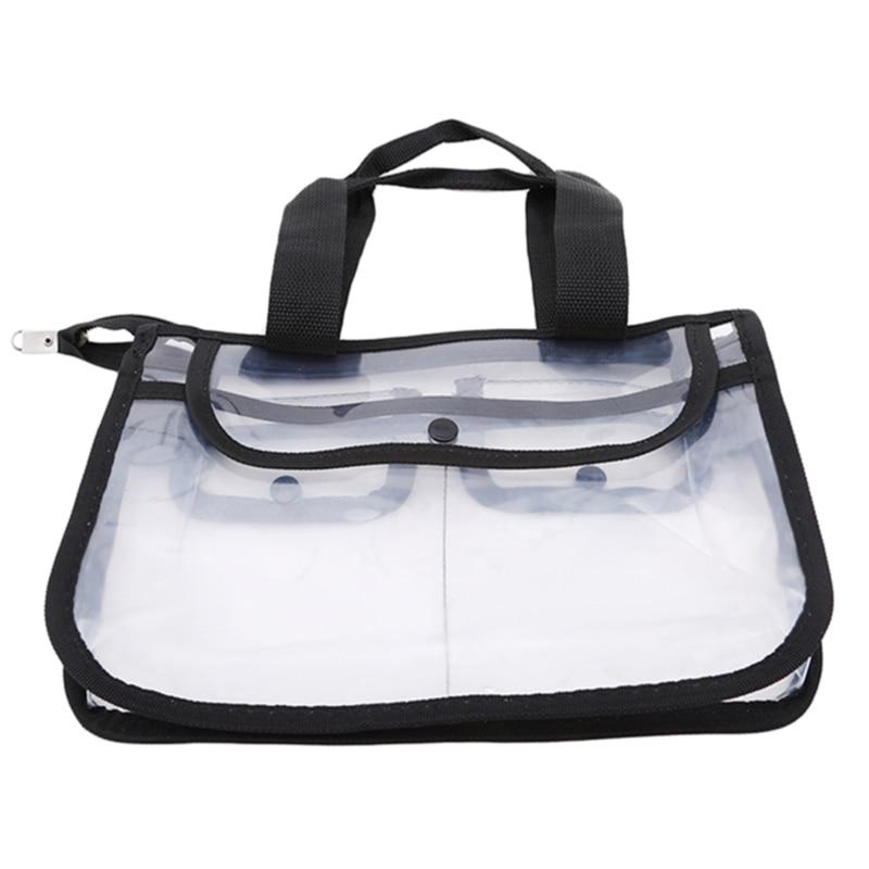 Moda transparente um ombro saco de cosméticos