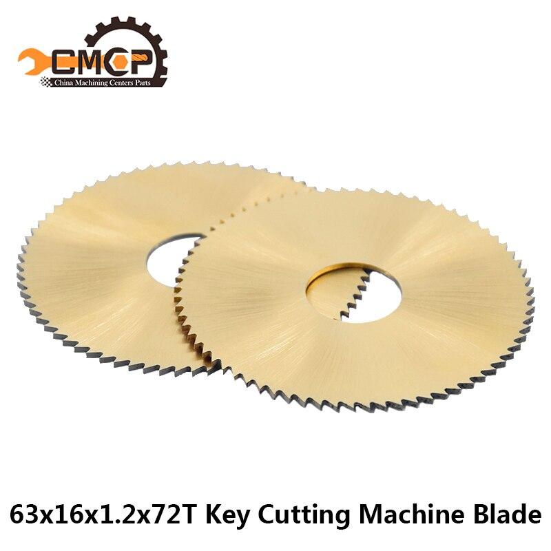 1pc HSS Metal Slitting Saw Blade 63x1.2x16mm 72T Circular Saw Blade Key Cutting Machine Blade