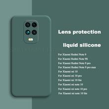 Nowy płynny silikonowy pokrowiec do Xiaomi Redmi Note 9S 9 pro max miękki matowy aparat ochronny pokrywa dla Mi Note 10 lite etui na telefon tanie tanio CN (pochodzenie)