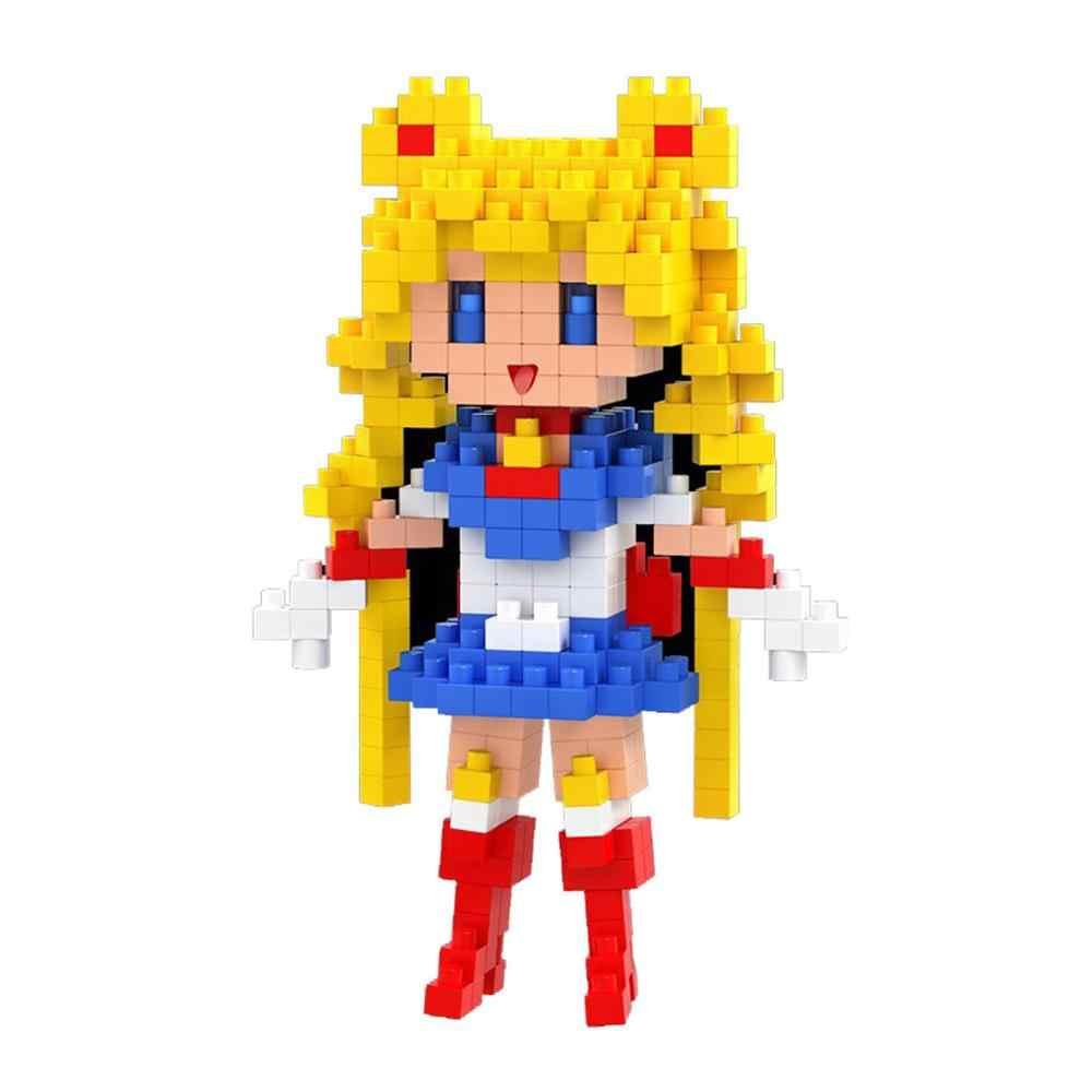 Legoinglys quente criadores clássico menina marinheiro lua júpiter marss mercúrio venus modelo de construção mini micro blocos de diamante brinquedos