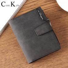 New ladies short wallet female zipper buckle wallet multi-fu