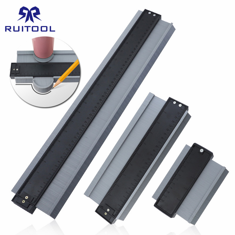 Contour Gauge 5 10 20 Inch ABS Contour Duplicator Templates For Wood Tiling Profile Measuring Tools Woodworking