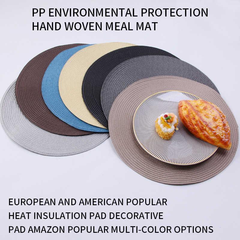 รอบPlacematsทอPPกันน้ำโต๊ะรับประทานอาหารNon-Slipผ้าเช็ดปากแผ่นดิสก์ชามPadsเครื่องดื่มถ้วยCoastersตกแต่งห้องครัว