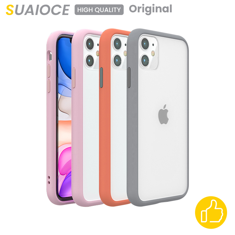 SUAIOCE Shockproof Bumper Transparent Silicone Phone Case For iPhone 11 Pro Max Soft TPU Back Cover For iPhone X XS Max XR Case on AliExpress