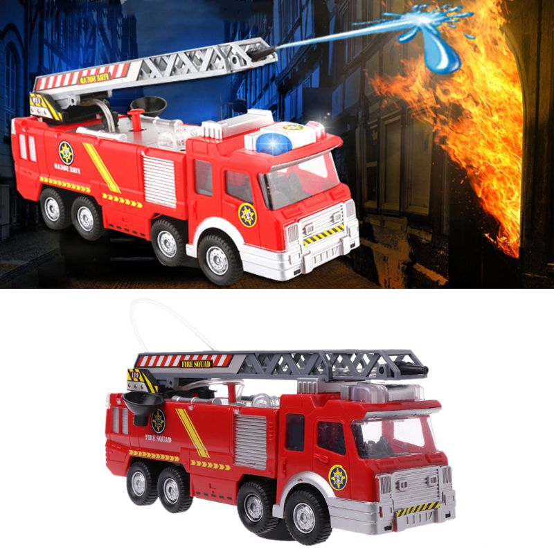 Spray Water Truck Toy Fireman Fire Truck Car Music Light Educational Toys for Boy Kids Scenario Toy as Gift