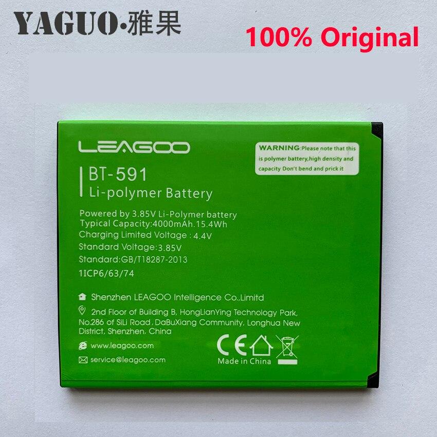 100% Original High Quality Battery 4000mAh Battery For LEAGOO Kiicaa Power BT-591 BT591 Battery Batterie Batteria