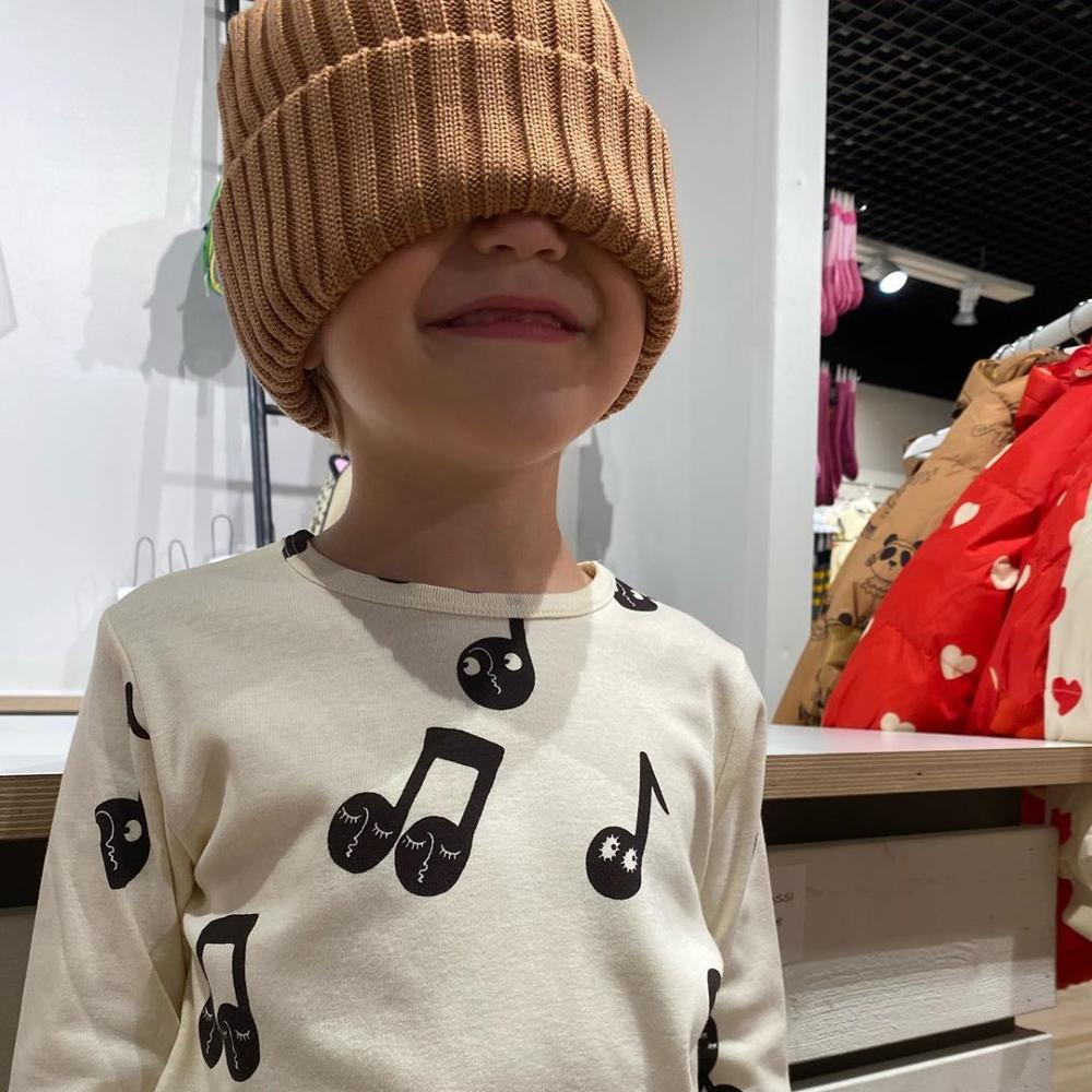 2021 Mini Brand Fashion Kids Baby Cotton T-shirt Tops Boys Girls Note Tee t shirts Children Blouse Toddlers Baby Clothing 4