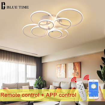 Modern Led Ceiling Light 110V 220V Modern Led Ceiling Lamp Living room Dining room Kitchen Bedroom Led Lustres Black White Light black white square round led ceiling lamp living room dining room bedroom hall kitchen decoration modern dimming ceiling lamp