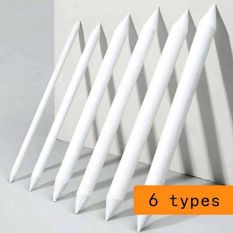 6Pcs Double Head Durable Art Drawing Tool Pastel New Blending Smudge Tortillon For Material Escolar Sketching Paper Pencil pen