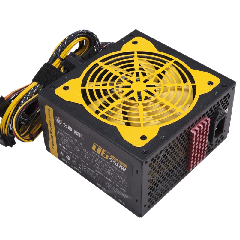 140-260V Max 550W Power Supply Computer Pc Cpu 12V 20+4Pin 120Mm Silent Fan Pcie-E Sata Power Adapter For Intel Amd Computer Us