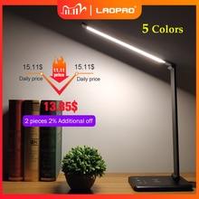 LAOPAO 52PCS LED שולחן מנורת 5 צבע Stepless Dimmable מגע USB נטען קריאת להגן עם טיימר שולחן מנורת לילה אור