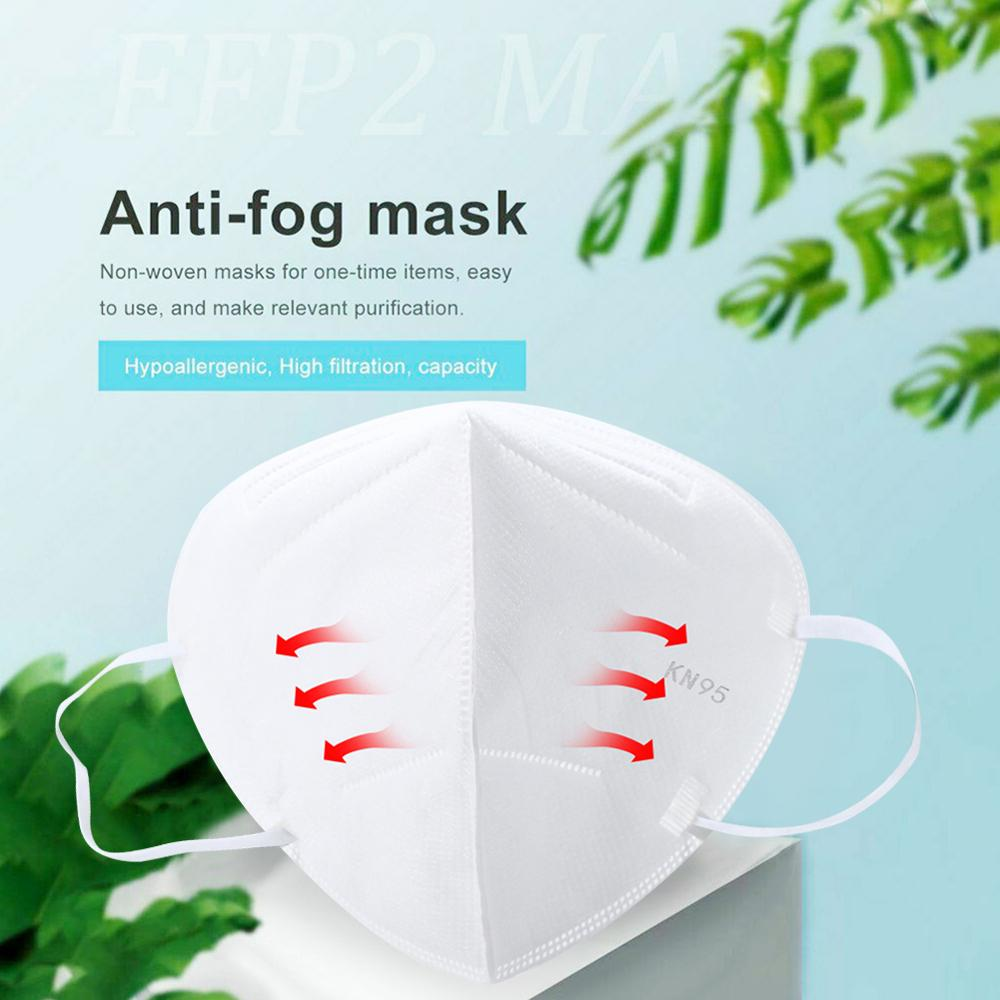 Image 3 - 20PCS KN95 Masks Non woven Anti Dust Mouth Face Cover Safety  Protective Earloops Face Mouth mask K n95 mask DustproofMasks   -