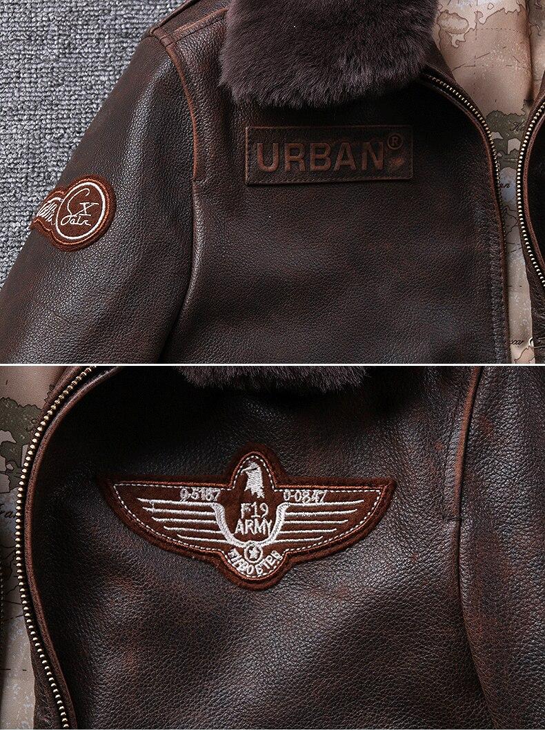 H5ca5d226d4934fb2a35db8acbd4338fda 2019 Vintage Men's G1 Air Force Pilot Jackets Genuine Leather Cowhide Jacket Plus Size 5XL Fur Collar Winter Coat for Male