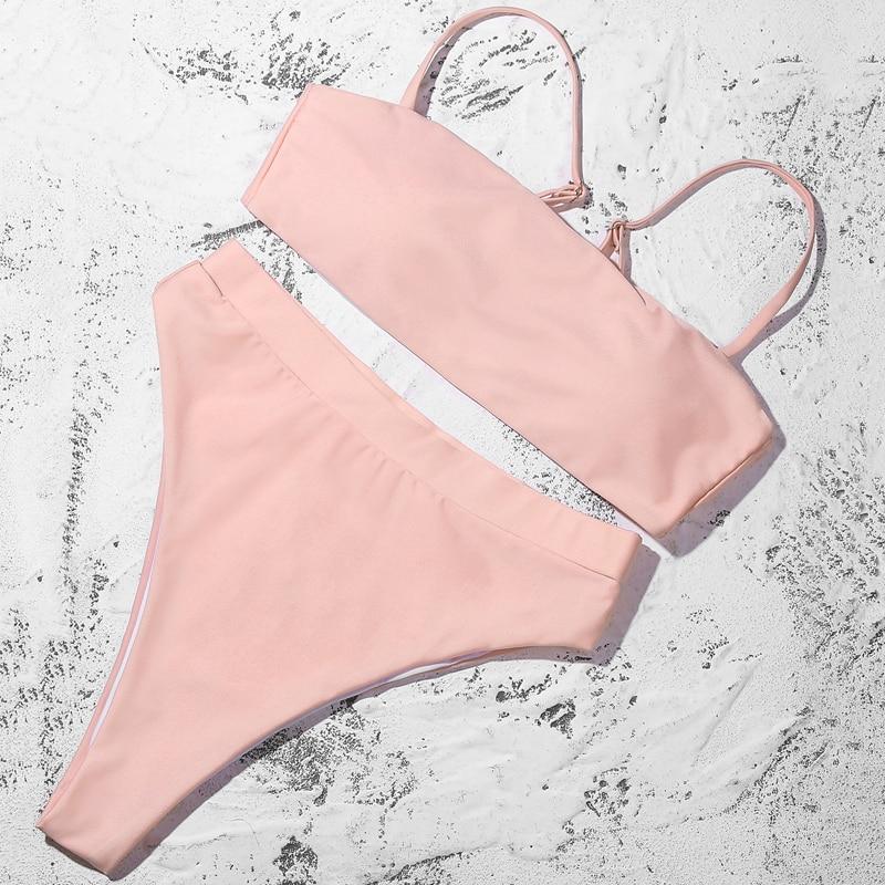 H5ca5dca2aa77448d9a5d5414154a9649w ZTVitality Sexy Bikinis Solid Push Up Bikini 2019 Hot Sale Padded Bra Straps High Waist Swimsuit Swimwear Women Print Biquini XL