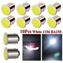 цена на 10pcs White Aluminum Lamp 1156 BA15S P21W Led Car LED 1156 Lamp COB 12 SMD 12V Low Heat Generation High intensity Car headlight