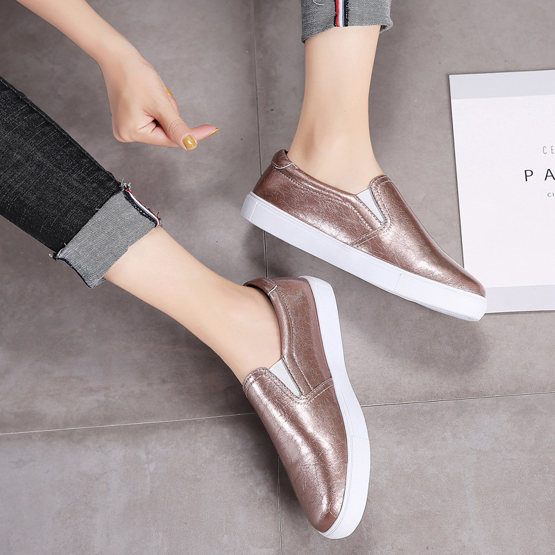 PINSEN New 2020 Autumn Loafers Women Flats Shoes Genuine Leather Casual Shoes Woman Slip-on Ballerina Flats Shoes Ladies Shoes 1