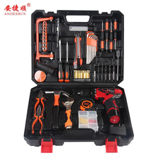 Anjieshun 12V Electric Drill Rechargeable Screwdriver Lithium Battery Mini Electric Drill Power Tool Cordless Drill Home DIY aotuo cordless electric screwdriver lithium battery mini two speed electric drill rechargeable screwdriver home diy electrictool