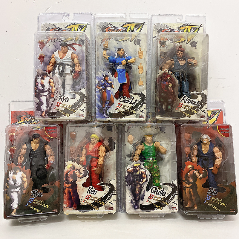 NECA Action Figure Ryu Figure Game Character Ken Doll Guile Toy Akuma Gouki Hoshi New Chun-Li Action Figure Gift Collection Doll