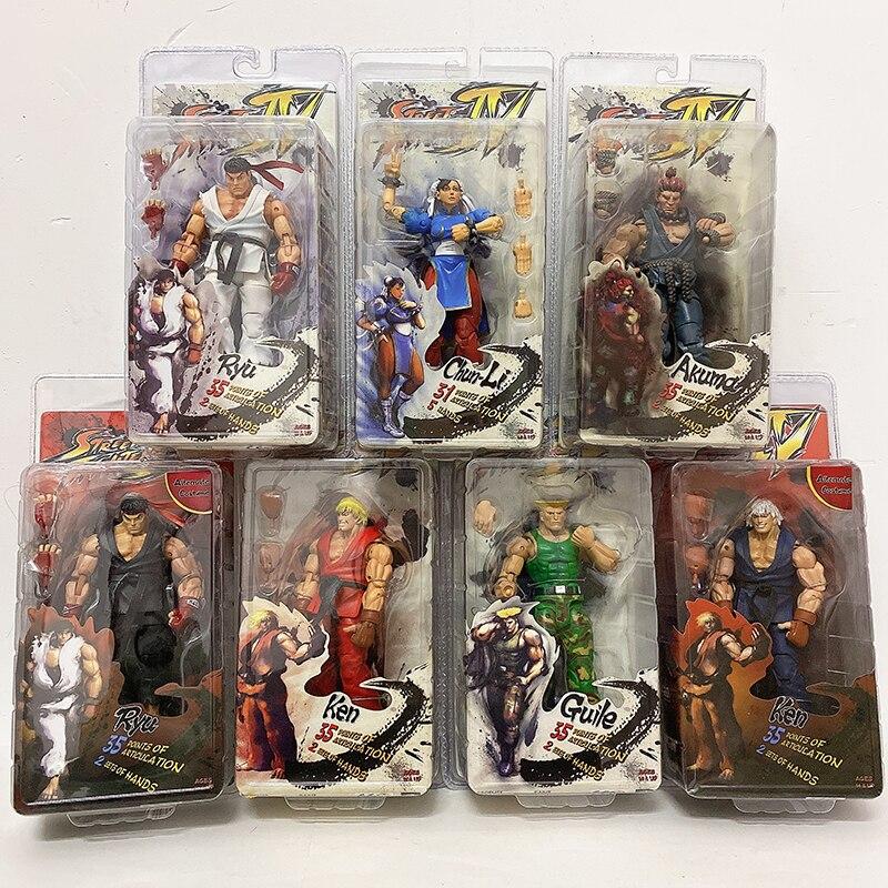 NECA Action Figure Ryu Figure Game Character Ken Doll Guile Toy Akuma Gouki Hoshi New Chun-Li Action Figure Gift Collection Doll