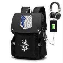 Japanese Anime Shingeki No Kyojin Wings of Freedom Backpack Attack On Titan School Bags Peripherals