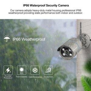 Image 4 - Techage 8CH 1080P Drahtlose Kamera NVR System 4 Array LED 2MP Wifi 2 Weg Audio Sound Video Im Freien CCTV Sicherheit Überwachung Kit